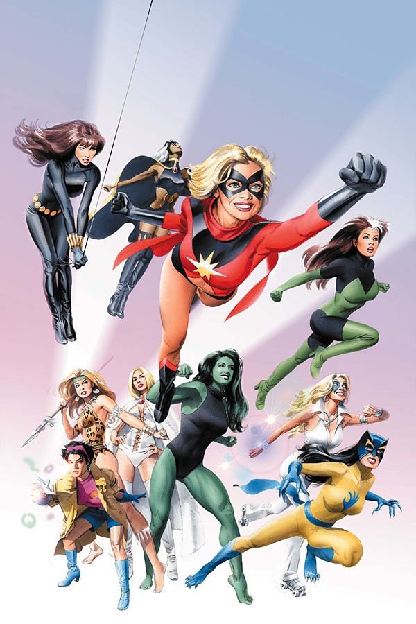 Marvel's Women of the 70s, poster by Mike Mayhew